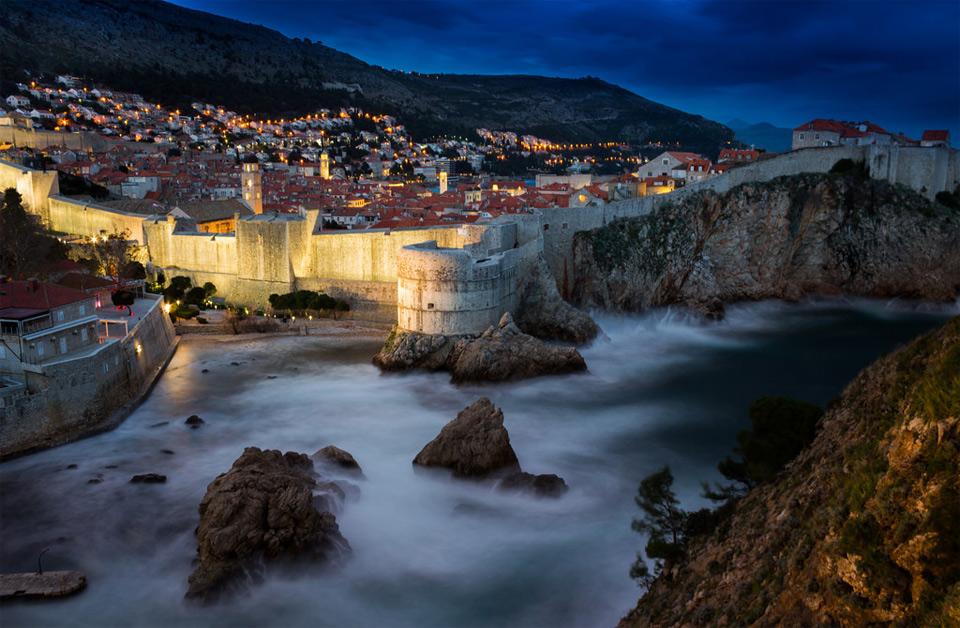 A View At Dubrovnik At Night, Croatia