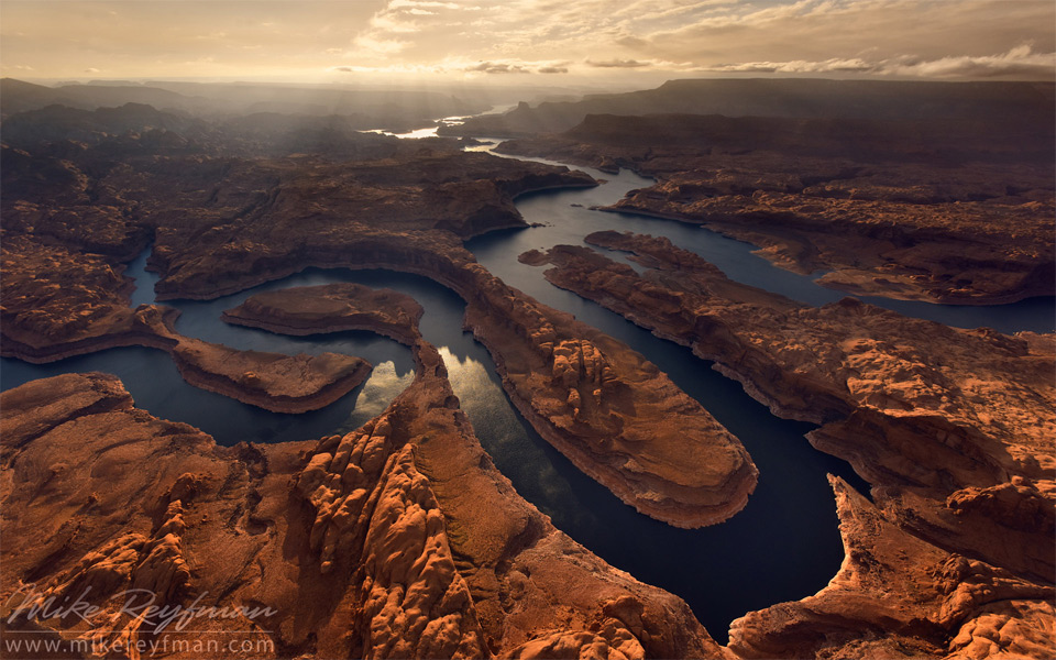 Aerial View On Glen Canyon, Colorado