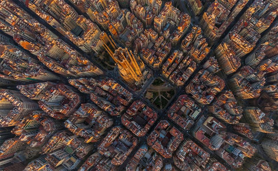 Sagrada Família And Barcelona From Above