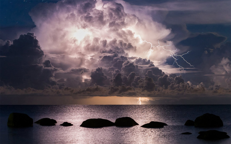 Epic Thunderstorm Over Vergi Port, Estonia