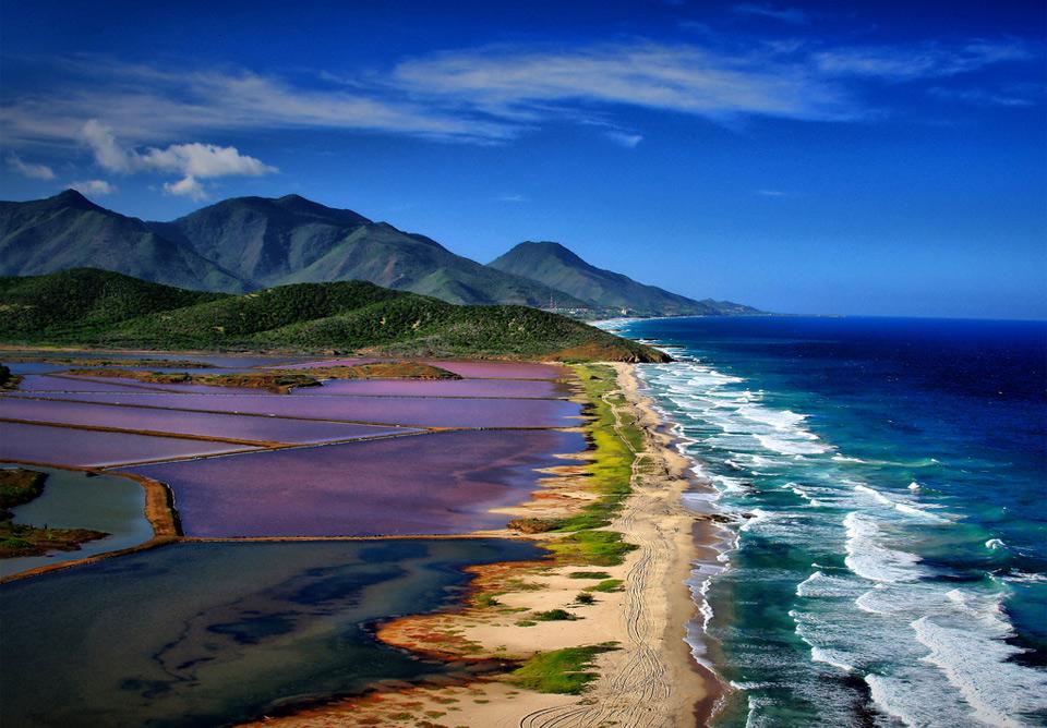 Sea Meets Salt Pans, Margarita Island, Venezuela