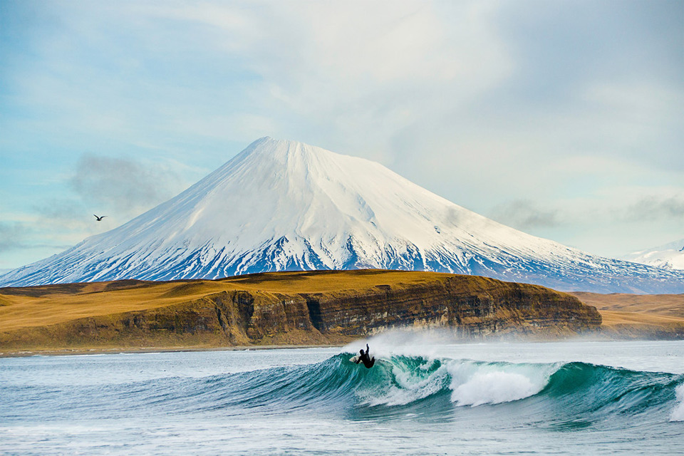 Surfing At Aleutian Islands
