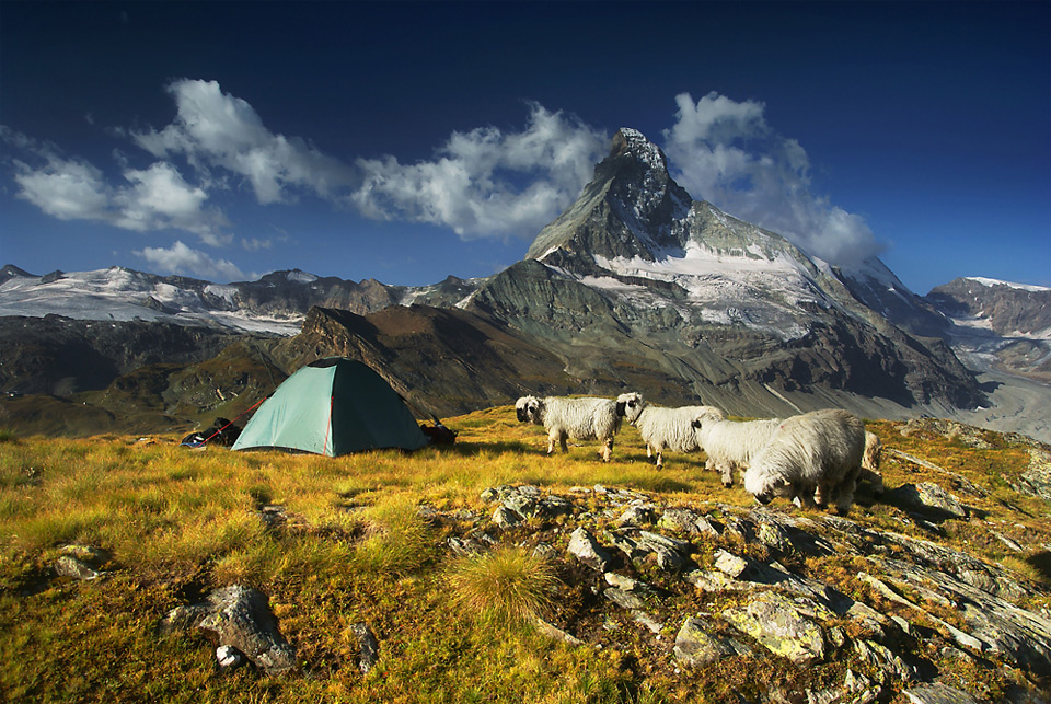Under Matterhorn, Valais Alps, Switzerland
