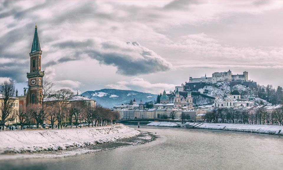 Winter In Salzburg, Austria