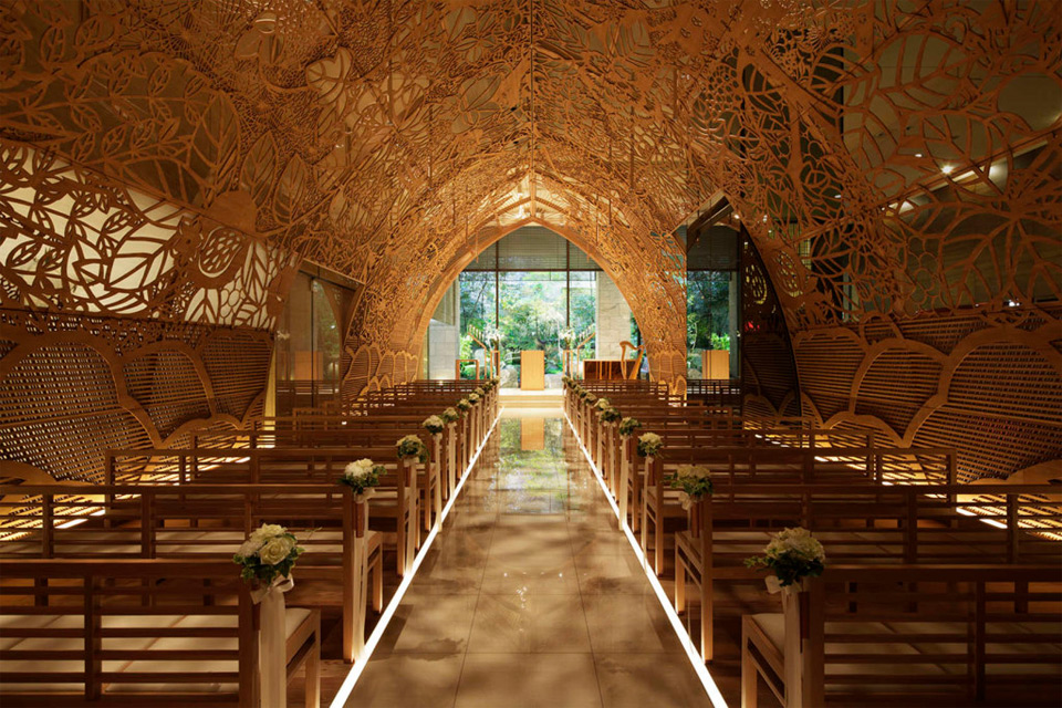 Wooden Wedding Chapel