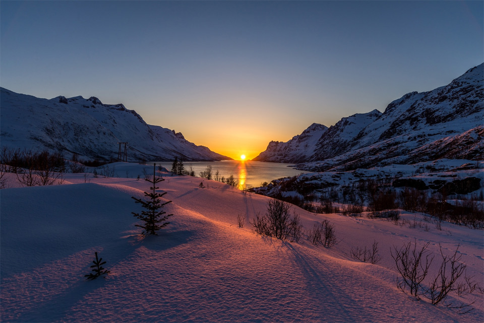 Stunning Sunset At Ersfjordbotn, Norway