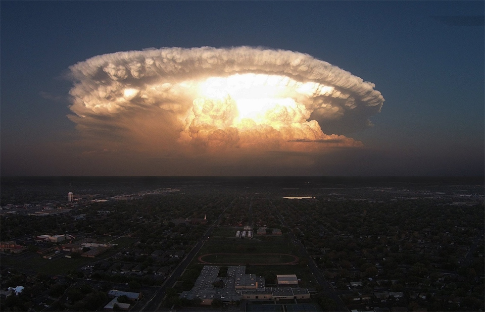 Supercell Storm Over Texas