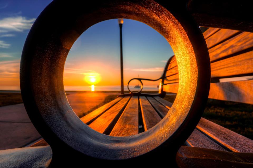 A Sunrise Through Bench, Florida