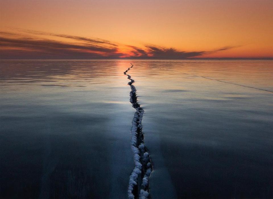 Lake Baikal Surface Crack