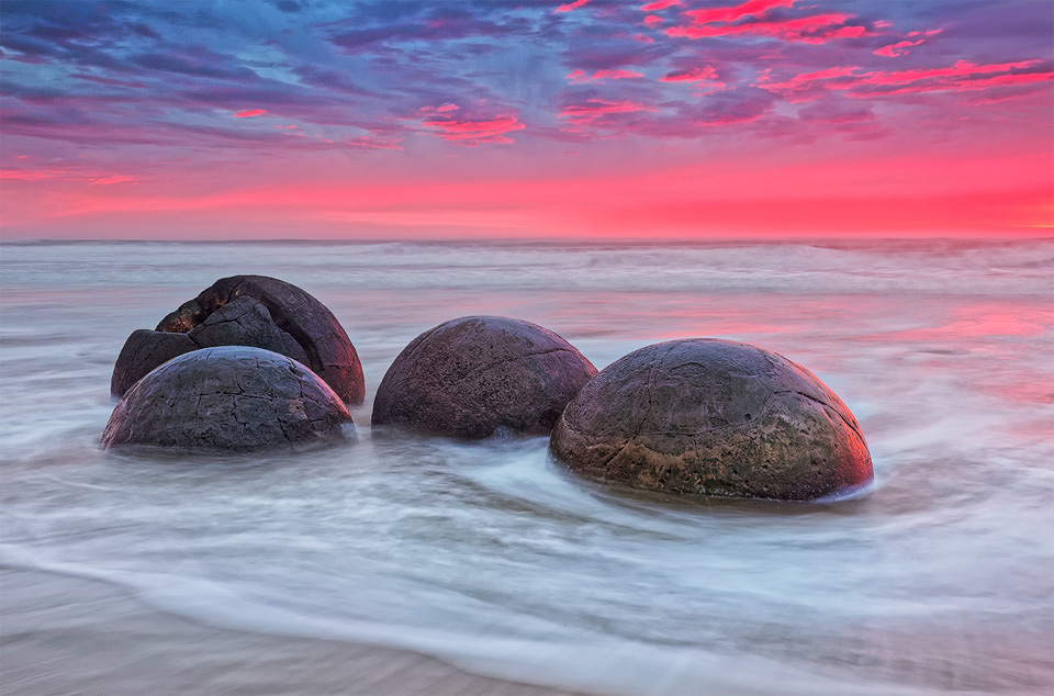 The Moeraki Boulders, A Large Spherical Stones, New Zealand