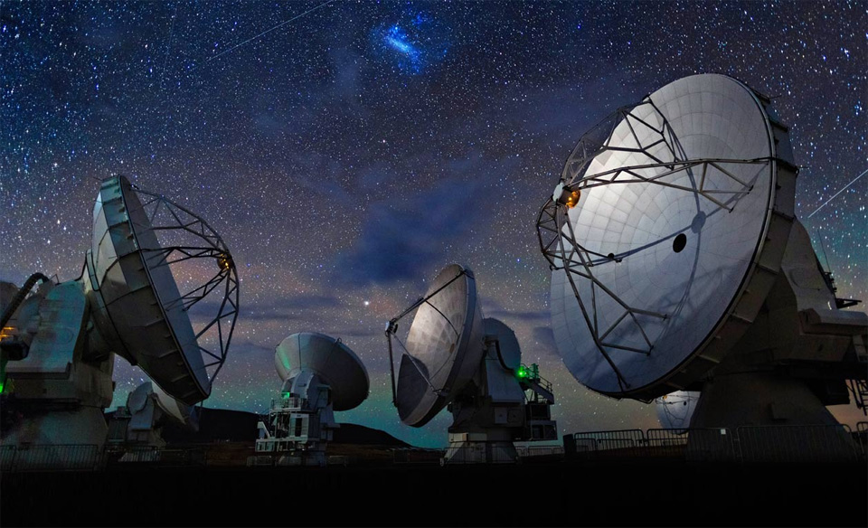 Astronomical Telescopes In The Atacama Desert, Chile