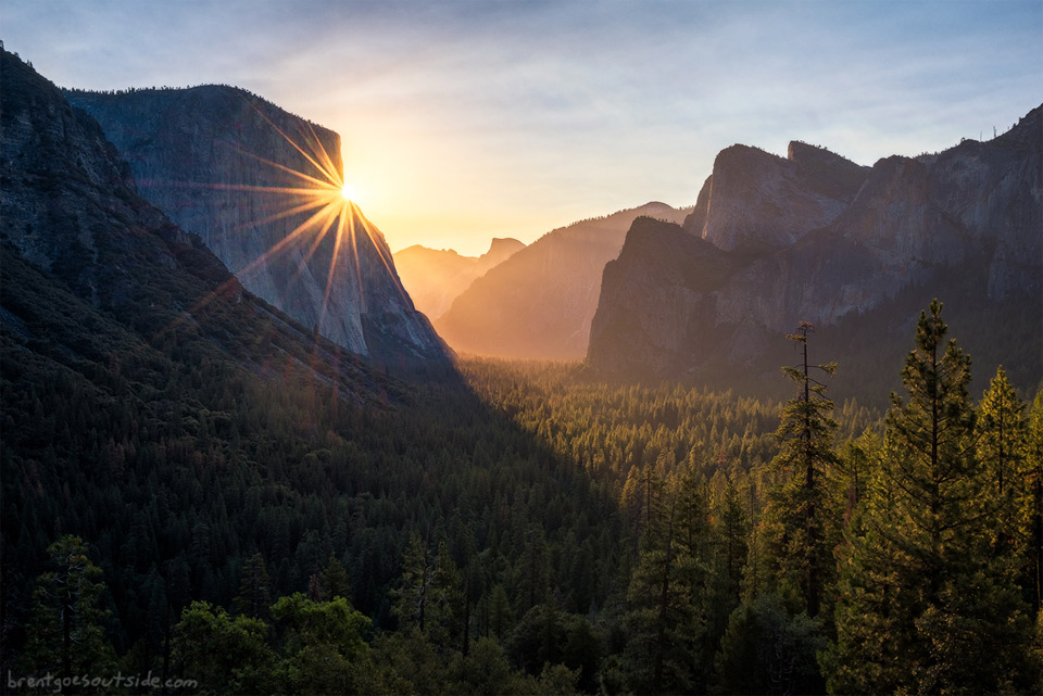 Sunrise In Yosemite