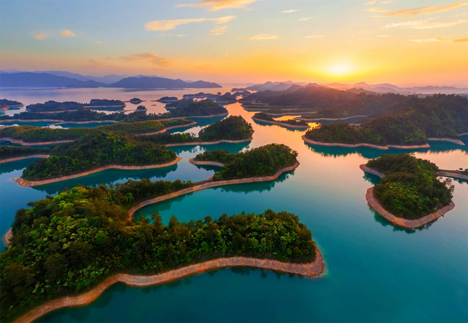 Sunset Over Qiandao Lake, China