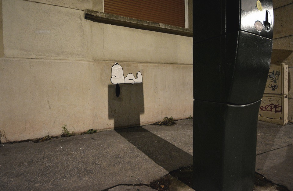 Snoopy Lying On A Shadow Art Work