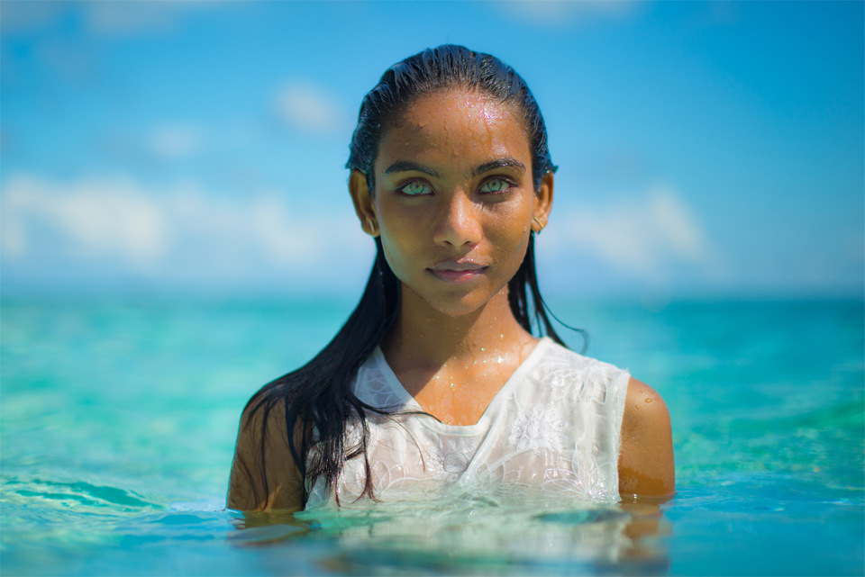 Maldivian Girl With Beautiful Eyes