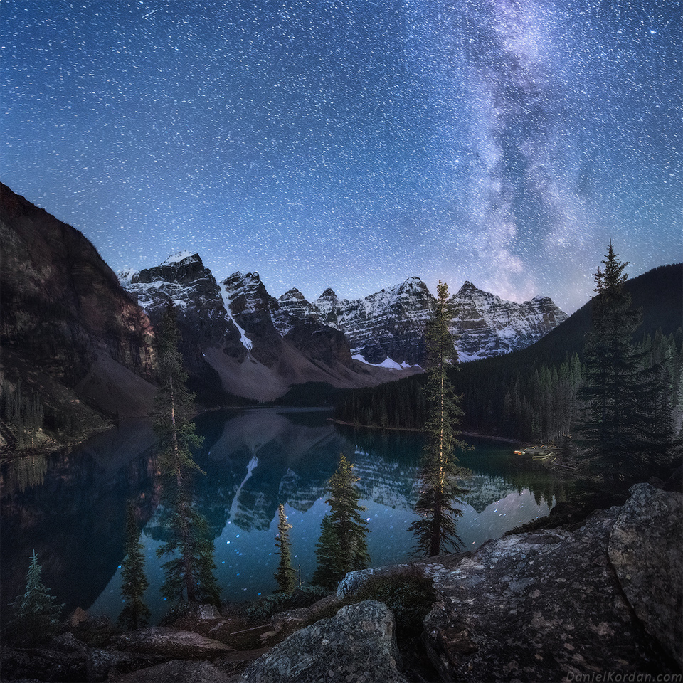 Milky Way Shines Over Lake