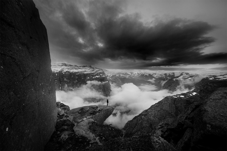 Standing On Trolltunga, Norway