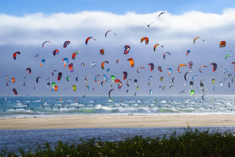 Kite Boarders of California Coast