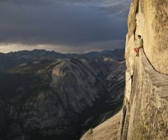 free climber and california`s yosemite valley