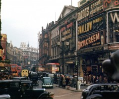 piccadilly circus, london, 1949