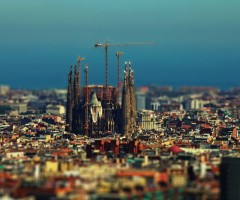tilt-shift barcelona