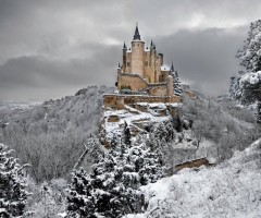 alcazar castle of segovia spain