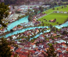 tilt shift switzerland