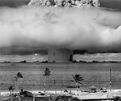 nuclear explosion at bikini island, 1946