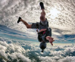 crazy skydiving over miami