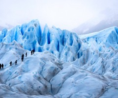 trekking on a glacier, argentina