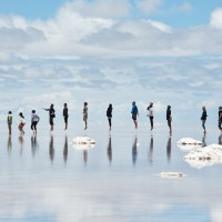 jump at bolivian salt flat