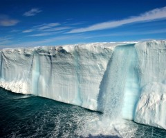 amazing glacial waterfalls