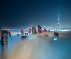 cloud scape of dubai