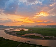 suncheon bay sunset, south korea