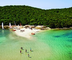beach in sivota, epirus in greece