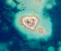 tiny heart shaped island