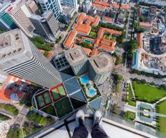 view down from the roof, singapore