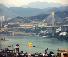 world`s largest rubber duck, hong kong