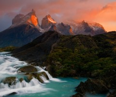 cordillera del paine mountains in chile