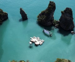 floating cinema in exotic thailand paradise