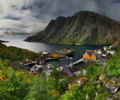 small fishing village, north norway