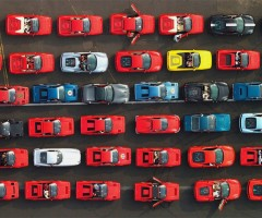 1000 ferrari cars at silverstone circuit race