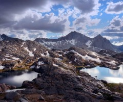 bear lakes basin on the sierra high route, california