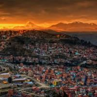 sunset in la paz, bolivia