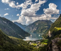 beautiful geiranger village, norway