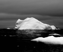 face on a iceberg, antarctica