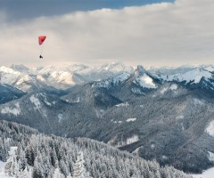 paragliding over german alps