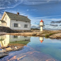 stangholmen lighthouse, risør, norway