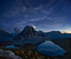 starry night at mount assiniboine