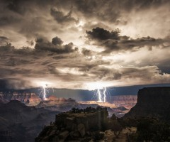 thunderstorm over grand canyon